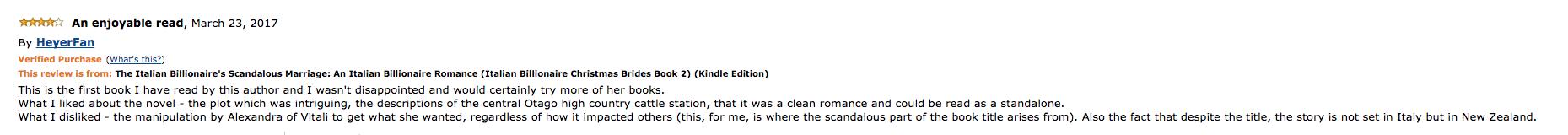 Scandalous amazon review Lesley