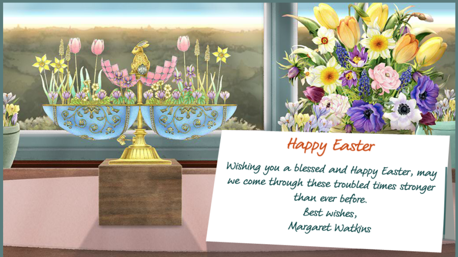 Wishing you a blessed and happy Easter